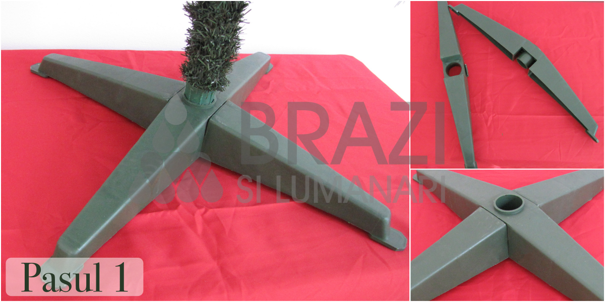 Brad artificial pin verde 150cm - Pasul 1