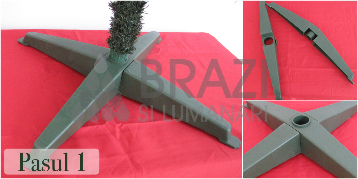 Brad artificial pin verde 180cm - Pasul 1