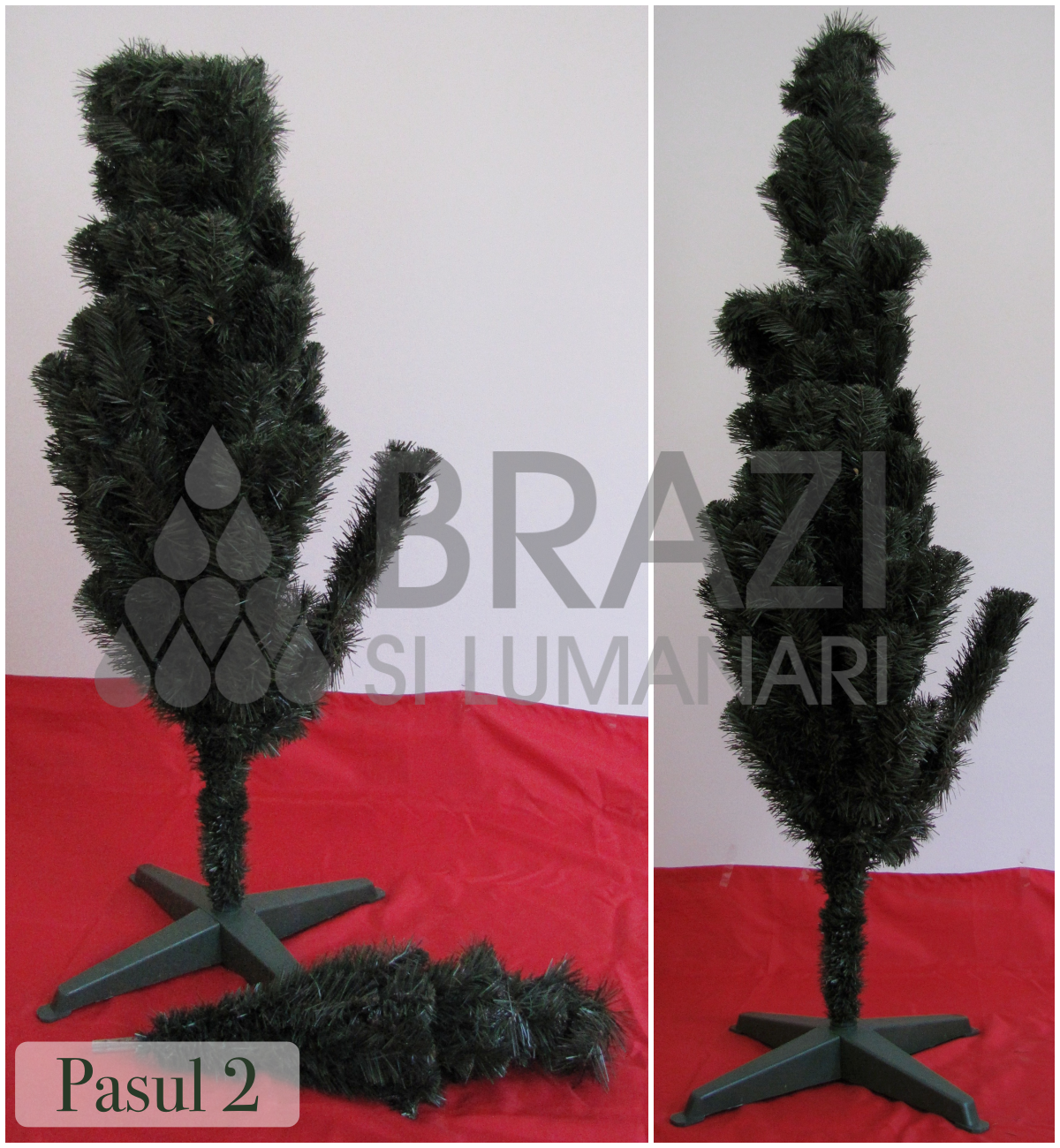 Brad artificial pin verde 180cm - Pasul 2
